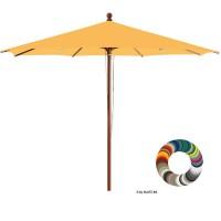 """Glatz Sonnenschirm I Piazzino """"Individual"""" ∅ 300 cm - rund, Stofffarbe: Klasse 4 - Dessin 420 Smoke"""