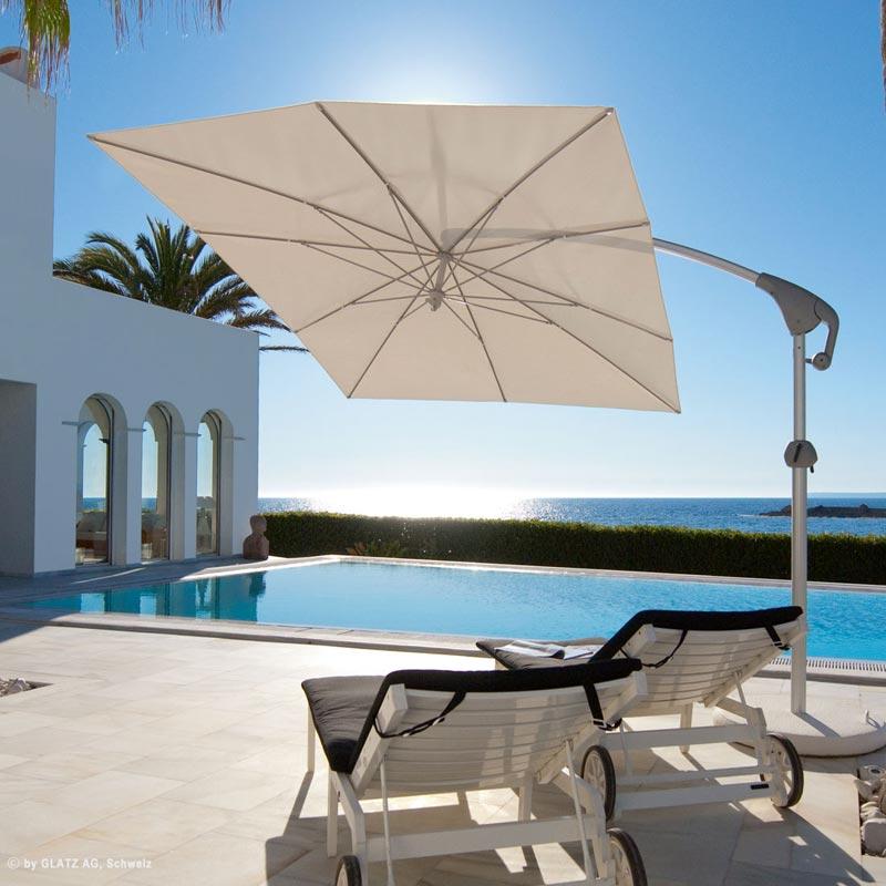 glatz sonnenschirme ampelschirme i schattenspender mit komfort. Black Bedroom Furniture Sets. Home Design Ideas