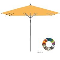 "Glatz Sonnenschirm I Fortero ""Individual"" ∅ 350 cm - rund, Stofffarbe: Klasse 4 - Dessin 420 Smoke"