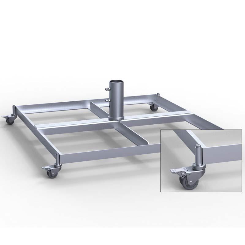 may standrahmen mit rollen f r 4 platten. Black Bedroom Furniture Sets. Home Design Ideas