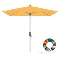 """Glatz Sonnenschirm I Alu-Twist """"Individual"""" ∅ 270 cm - rund, Stofffarbe: Klasse 4 - Dessin 420 Smoke"""